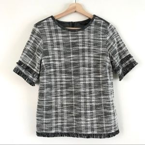 Banana republic short sleeve tweed top